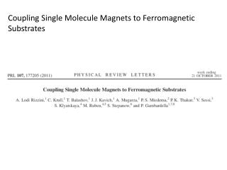 Coupling Single Molecule Magnets to Ferromagnetic  Substrates