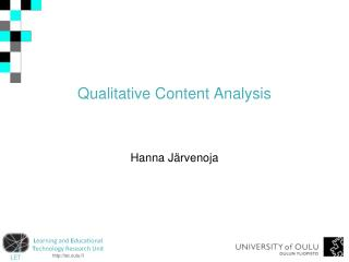 Qualitative Content Analysis