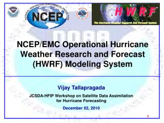 NCEP/EMC Operational Hurricane Weather Research and Forecast (HWRF) Modeling System