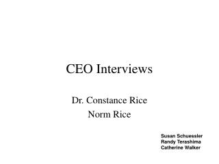 CEO Interviews