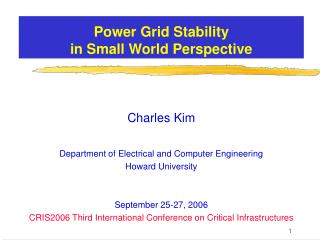 Power Grid Stability  in Small World Perspective