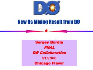 New Bs Mixing Result from DØ