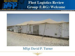 Fleet Logistics Review  Group (LRG) Welcome