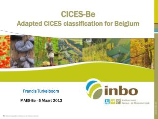 CICES-Be Adapted CICES classification for Belgium