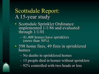Scottsdale Report:  A 15-year study