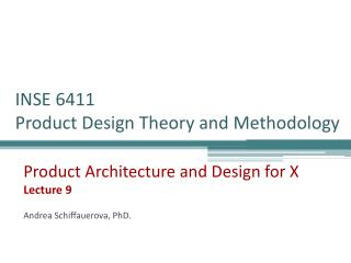 INSE 6411  Product Design Theory and Methodology