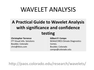 paos.colorado/research/wavelets/