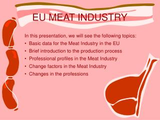 EU MEAT INDUSTRY