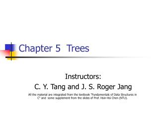 Chapter 5	Trees