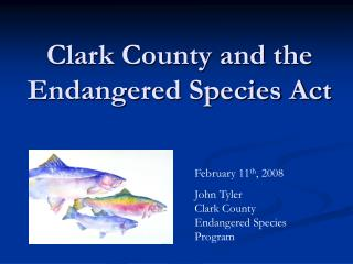 Clark County and the Endangered Species Act