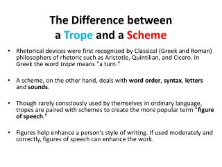 The Difference between a Trope and a Scheme