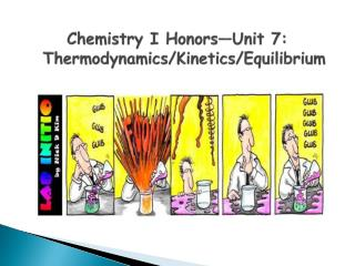 Chemistry I Honors—Unit 7: Thermodynamics/Kinetics/Equilibrium