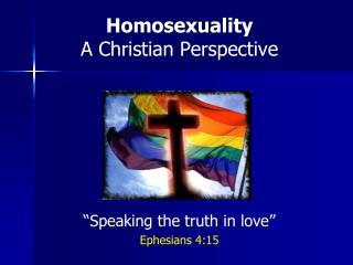 a christian perspective of homosexuality