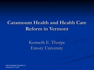 Catamount Health and Health Care Reform in Vermont
