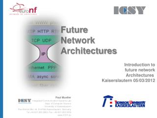 Future Network  Architectures Introduction to future network Architectures