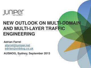 New Outlook on Multi-Domain and Multi-Layer Traffic  Engineering
