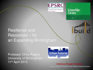 Resilience Through Innovation Critical Local Transport and Utility Infrastructure
