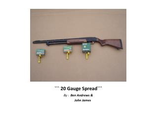 ``` 20 Gauge Spread```