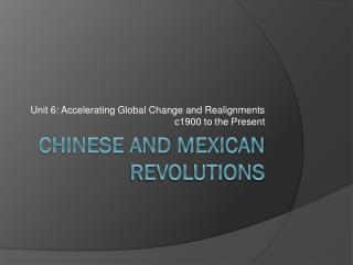 Chinese and mexican Revolutions
