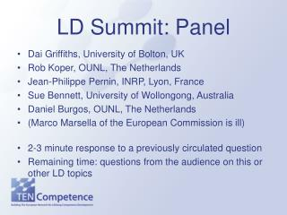 LD Summit: Panel