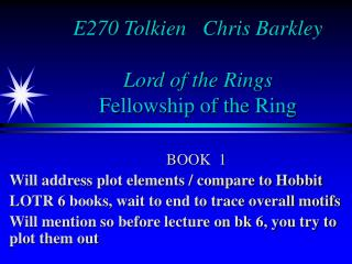E270 Tolkien   Chris Barkley Lord of the Rings Fellowship of the Ring