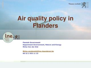 Air quality policy in Flanders