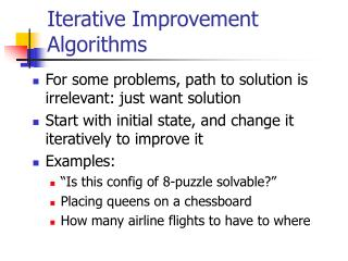 Iterative Improvement Algorithms