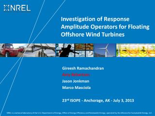 Investigation of Response Amplitude Operators for Floating Offshore Wind Turbines