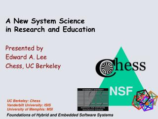 A New System Science in Research and Education
