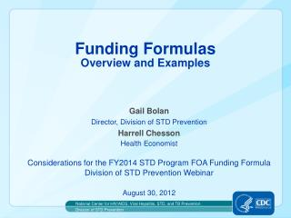 Funding Formulas Overview and Examples
