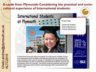 Chelo.andres@plymouth.ac.uk ALTC2010