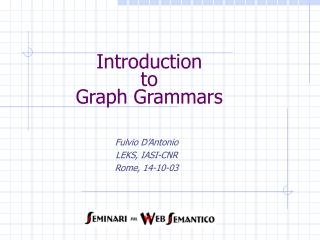 Introduction  to Graph Grammars