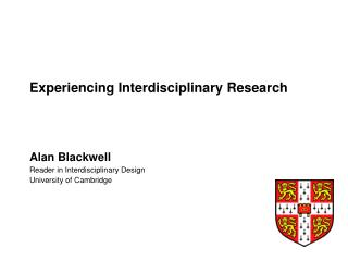 Experiencing Interdisciplinary Research