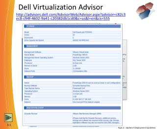 Dell Virtualization Advisor