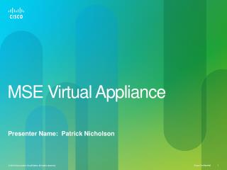 MSE Virtual Appliance