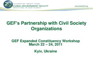 GEF's  Partnership with Civil Society Organizations