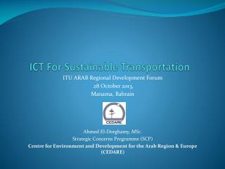 ICT For Sustainable Transportation