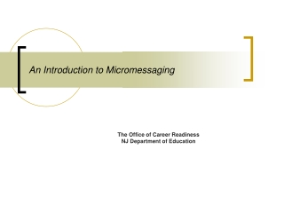 An Introduction to Micromessaging