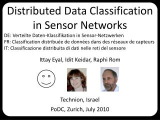 Distributed  Data Classification  in  Sensor  Networks
