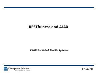 RESTfulness and AJAX