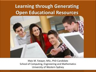 Learning through Generating  Open Educational Resources