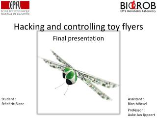 Hacking and controlling toy flyers