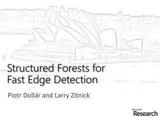 Structured Forests for  Fast Edge Detection