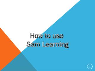 How to use Sam Learning