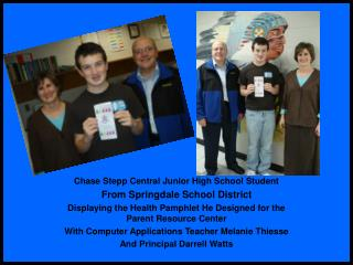 Chase Stepp Central Junior High School Student From Springdale School District