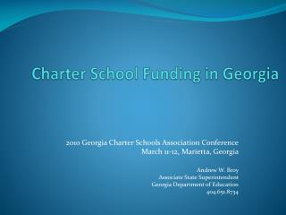Charter School Funding in Georgia