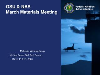 OSU & NBS March Materials Meeting