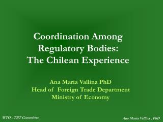 Coordination Among Regulatory Bodies: The Chilean Experience