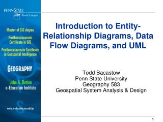 Introduction to Entity-Relationship Diagrams, Data Flow Diagrams, and UML