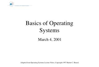 Basics of Operating Systems